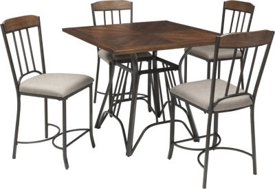 Ashley Zanilly Counter Table & 4 Stools