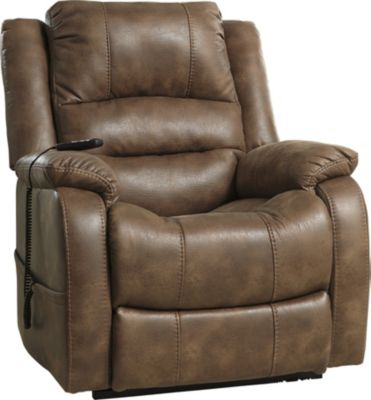 Ashley Yandel Brown Power Lift Recliner
