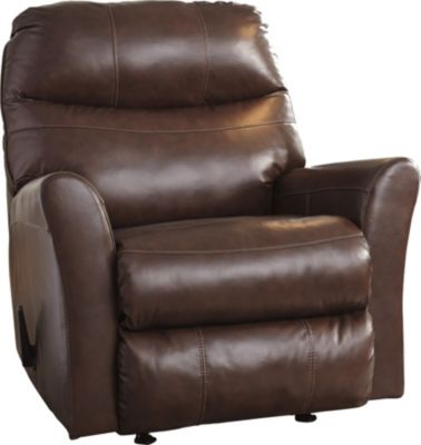 Ashley Pranav Brown Leather Rocker Recliner