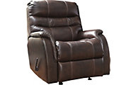 Ashley Bridger Brown Leather Power Rocker Recliner