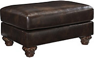 Ashley Vanceton Bonded Leather Ottoman
