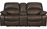 Ashley Zavier Power Reclining Loveseat with Console