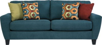 Ashley Sagen Teal Sofa