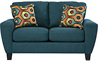 Ashley Sagen Teal Loveseat