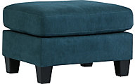 Ashley Sagen Teal Ottoman