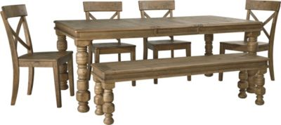 Ashley Trishley Table, 4 Chairs & 1 Bench