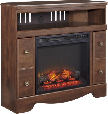Ashley Brittberg Corner Fireplace TV Stand
