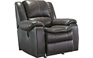 Ashley Long Knight Gray Rocker Recliner