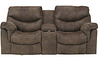 Ashley Alzena Power Reclining Loveseat with Console