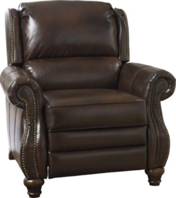 Ashley Elberton Brown Bonded Leather Press-Back Recliner