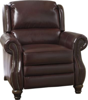 Ashley Elberton Burgundy Bonded Leather Press-Back Reclin