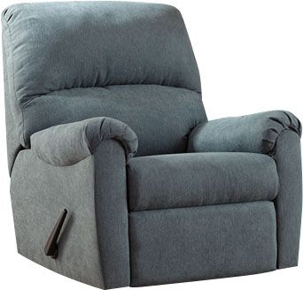 Ashley Zeth Blue Rocker Recliner