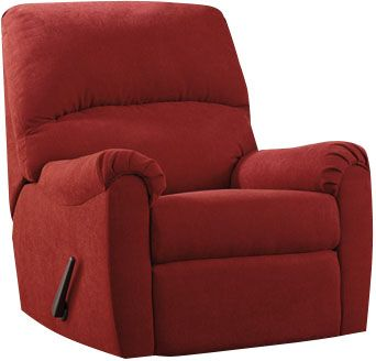 Ashley Zeth Red Rocker Recliner