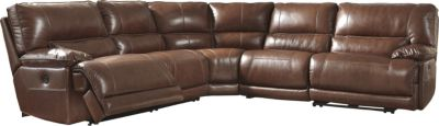 Ashley Kalel 5-Piece Power Leather Sectional