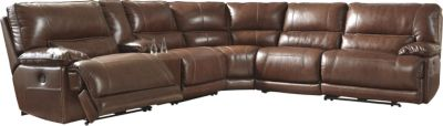 Ashley Kalel 6-Piece Power Recline Leather Sectional