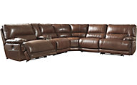 Ashley Kalel 6-Piece Leather Sectional
