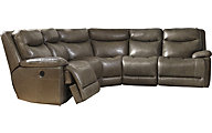 Ashley Zaiden 5-Piece Leather Reclining Sectional