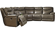 Ashley Zaiden 6-Piece Leather Power Sectional