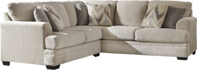 Ashley Ameer Cream Right-Side Sofa 2-Piece Sectional