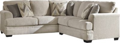 Ashley Ameer Cream Left-Side Sofa 2-Piece Sectional