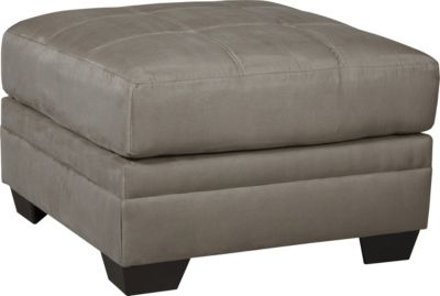 Ashley Iago Gray Oversized Ottoman