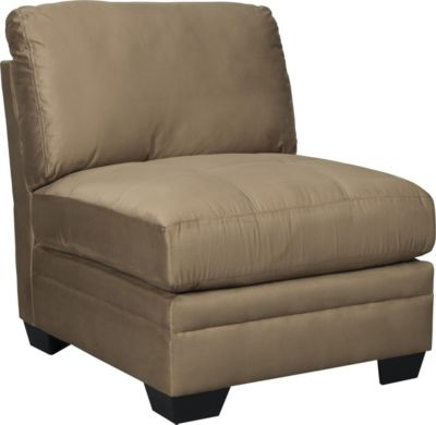 Ashley Iago Tan Armless Chair