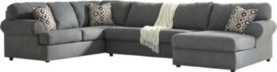 Ashley Jayceon Left-Side Sofa Gray 3-Piece Sectional