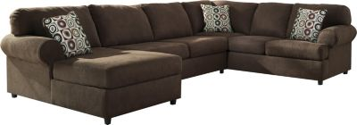 Ashley Jayceon Left-Side Sofa Brown 3-Piece Sectional