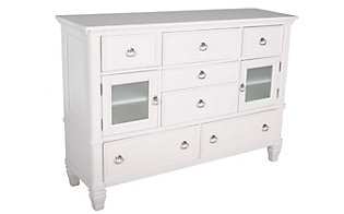 Ashley Prentice Contemporary White Dresser