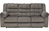 Ashley Mort Gray Reclining Sofa