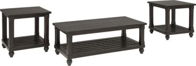 Ashley Mallacar Coffee Table & 2 End Tables
