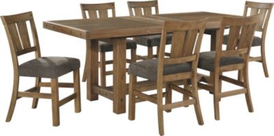 Ashley Tamilo Counter Table & 6 Stools