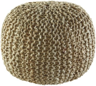 Ashley A10001 Tan Knit Pouf