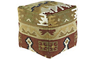 Ashley A10002 Tribal Cube Pouf
