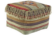 Ashley A10002 Tribal Fringe Cube Pouf
