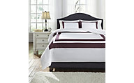 Ashley Daruka Plum 3-Piece Queen Duvet Set