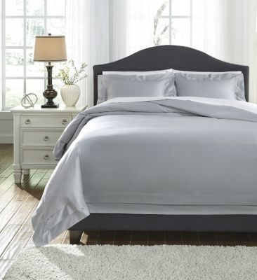 Ashley Chamness Gray 3-Piece King Duvet Set