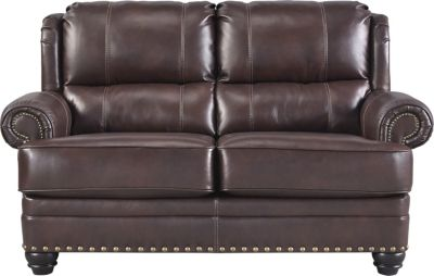 Ashley Glengary Leather Loveseat