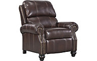 Ashley Glengary Leather Press-Back Recliner