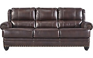 Ashley Glengary Leather Queen Sleeper Sofa