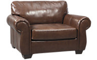 Ashley Lugoro Leather Chair & 1/2