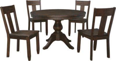 Ashley Trudell Pedestal Table & 4 Side Chairs