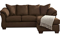 Ashley Darcy Brown Full Chaise Sleeper Sofa