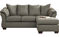 Ashley Darcy Gray Full Chaise Sleeper Sofa