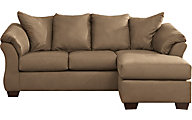 Ashley Darcy Mocha Full Chaise Sleeper Sofa