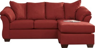 Ashley Darcy Red Full Chaise Sleeper Sofa