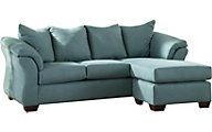 Ashley Darcy Blue Full Chaise Sleeper Sofa