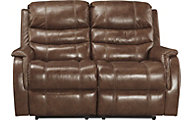 Ashley Metcalf Power Leather Reclining Loveseat