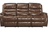 Ashley Metcalf Power Leather Reclining Sofa