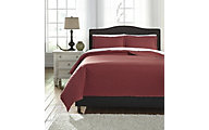 Ashley Alecio Red 3-Piece Queen Quilt Set
